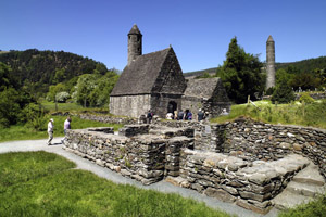 Glendalough in County Wicklow part of Ireland's Ancient East