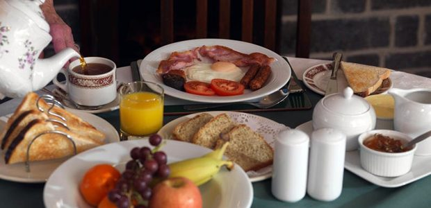 A full Irish breakfast included in your farmhouse holiday