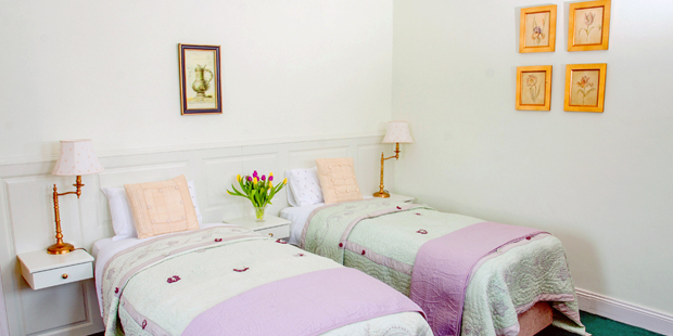 Twin ensuite bedroom – room contains two single beds with ensuite facilities, suitable for two occupants.