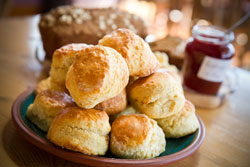 B&B Hosts provide home-baking such as scones